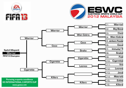 ESWC FIFA13 Results