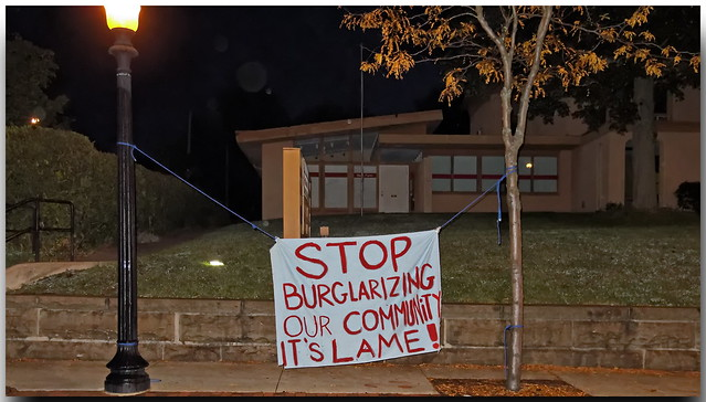 Notice To Lame Burglars