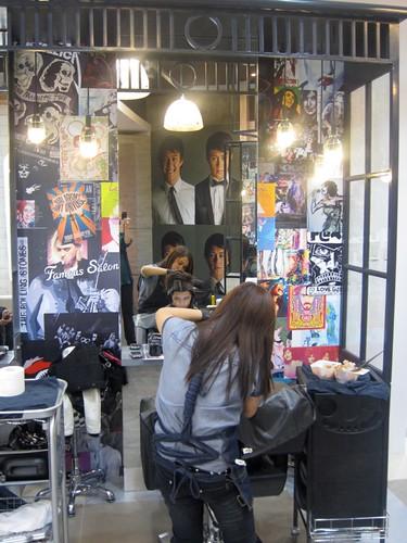 Folded & Hung Famous Hair Salon