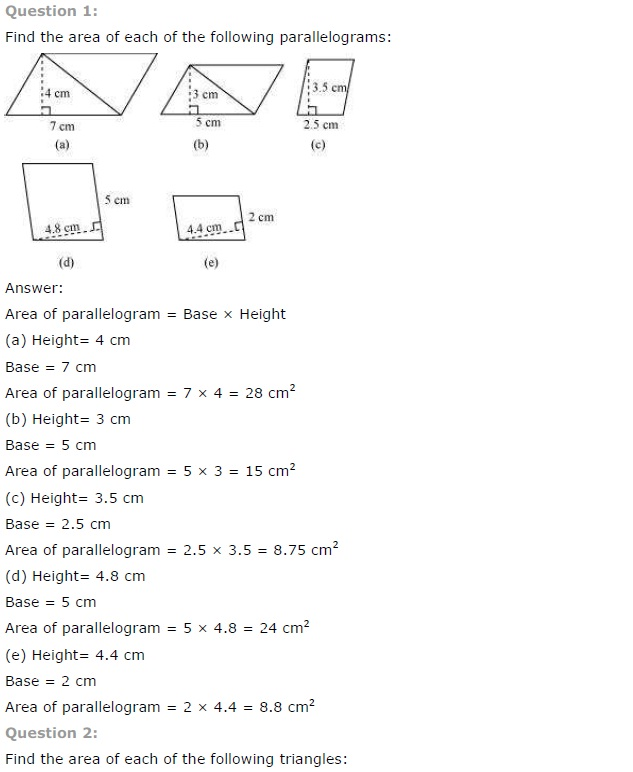 NCERT Solutions for Class 7th Maths Chapter 11 Perimeter and Area Exercise 11.2