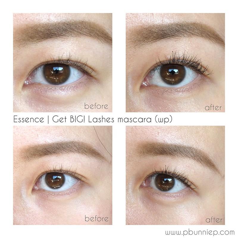 Essence Get big lashes mascara swatch