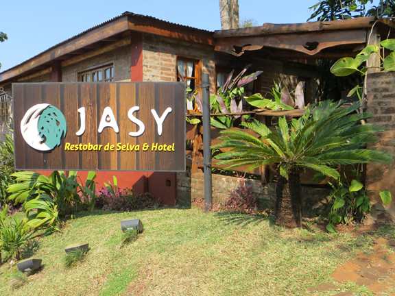 Jasy hotel sign