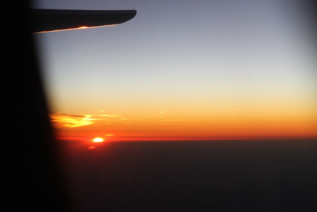 Sunset, OK763 from CDG to PRG.