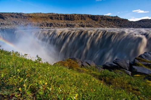 Nature pure at Dettifoss Waterfall