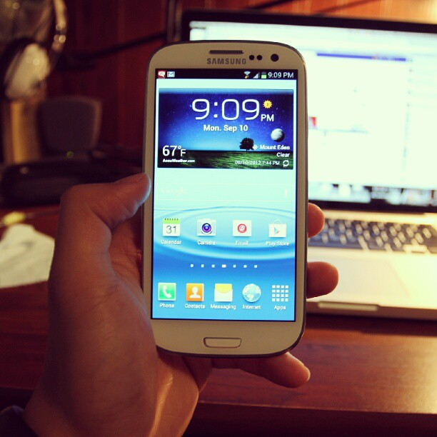 New Start. #SamsungGalaxyS3 #phone #android #sgs3 #pearlwhite