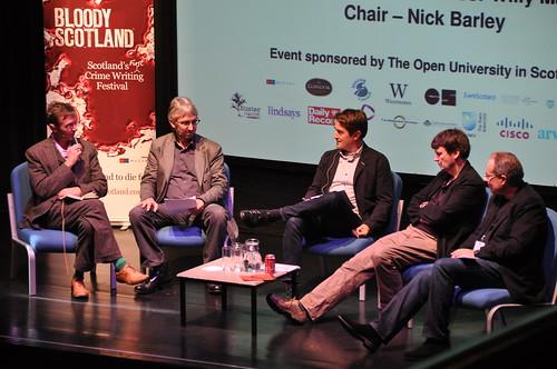 Stuart Kelly, Willy Maley, Nick Barley, Ian Rankin and Peter James