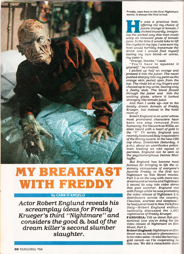 My breakfast with Freddy