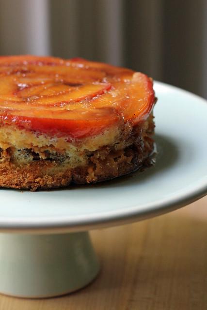 nectarine upside-down chiffon cake