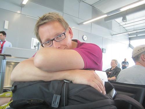 At Frankfurt Intl. Airport