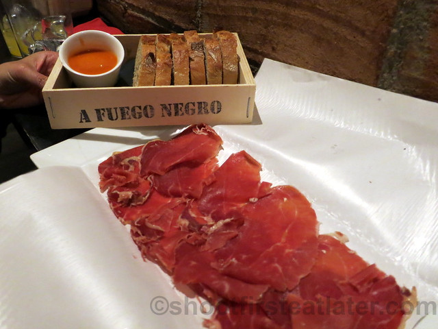 A Fuego Negro Bar- Iberian ham (shoulder blade)