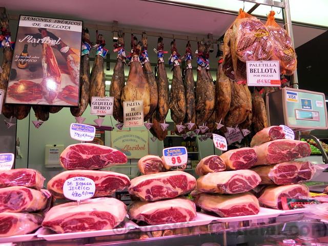 supermarket in San Sebastian- smoked ham