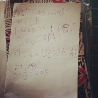 Shopping list by my 4 year old secretary. Love!
