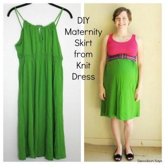 DIY Maternity Skirt from Dress - Swoodson Says