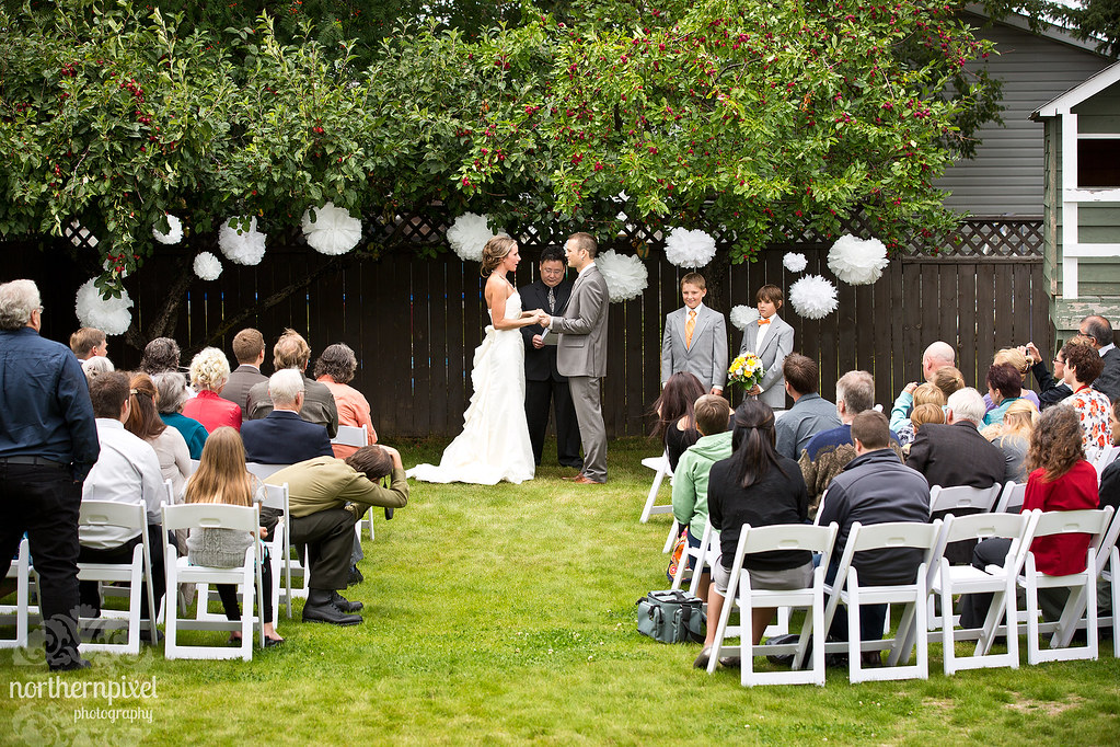 Backyard Wedding Ceremony - Prince George British Columbia