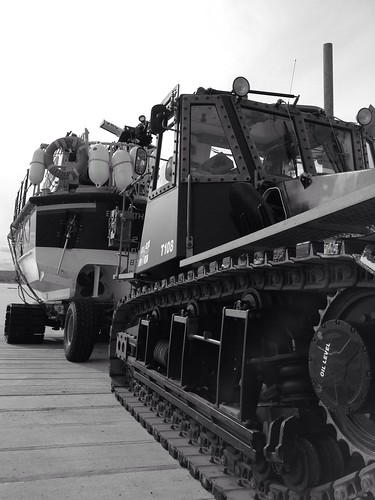 Lifeboat and tractor