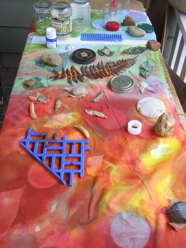 Sun printing fabric