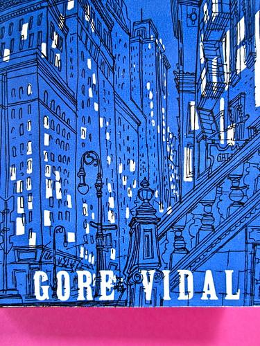 Gore Vidal, La città perversa, Elmo editore 1949. (copia 2) Prima di sovracoperta (part.), 2