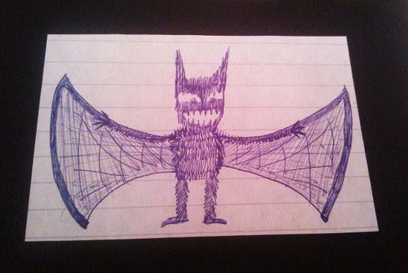 Blue Biro Bat