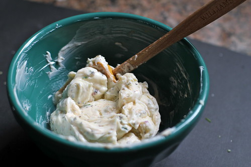 mix together the herb butter