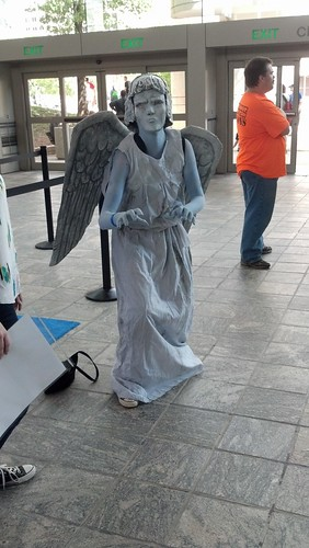 Angel Statue Costume at Baltimore Comic-Con 2012