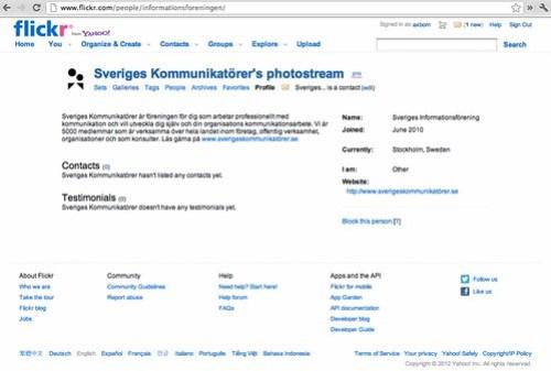 Sveriges Kommunikatörer på Flickr