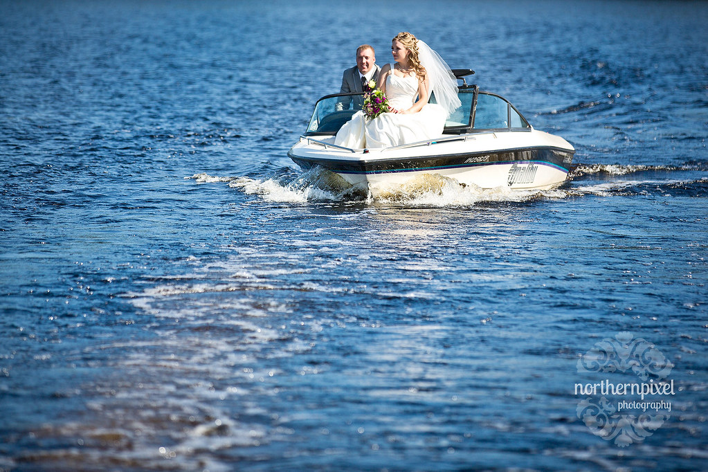 Newlyweds Norman Lake British Columbia Wedding BC Lakeside Ceremony Outdoors
