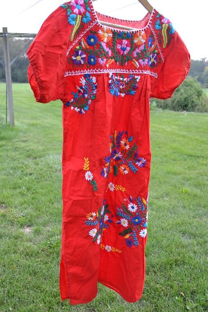opulent-vintage-red-embroidered-dress