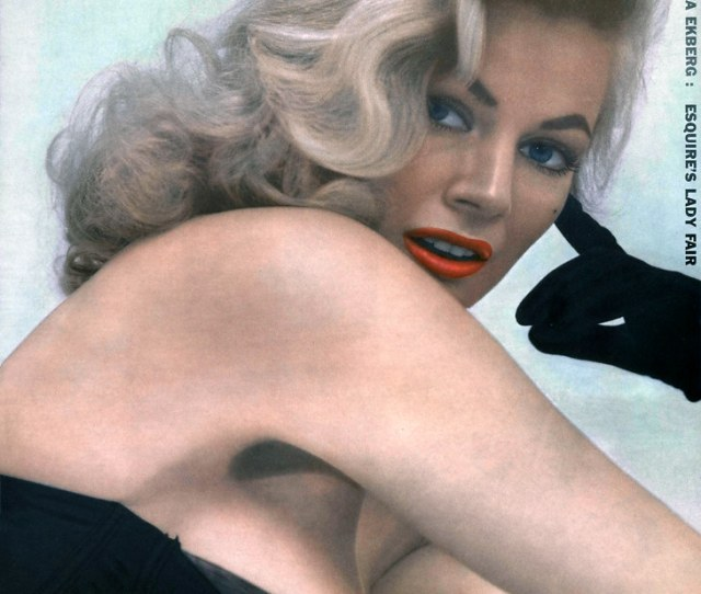 Anita Ekberg Photograph By David Preston 1956