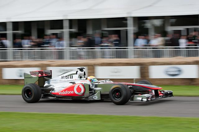 Lewis Hamilton st the wheel of his Mclaren MP4-26