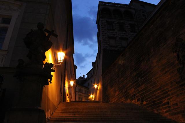 Camino al hostal desde el Castillo de Praga