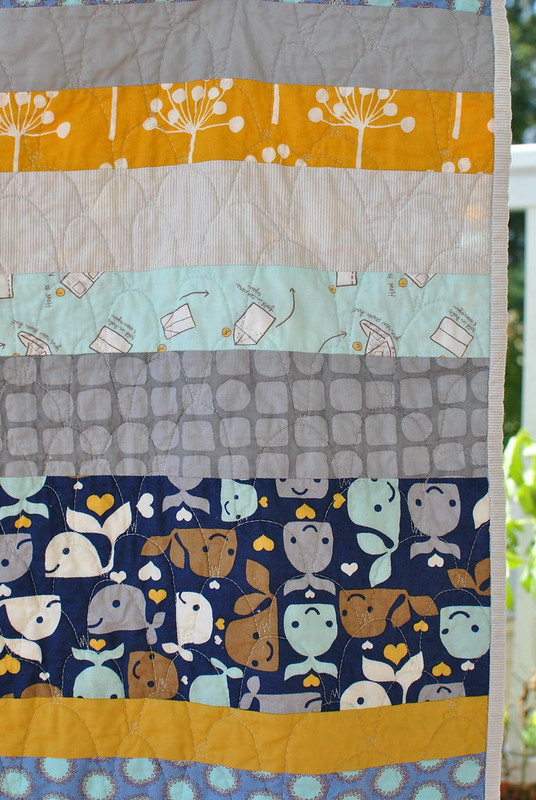 Baby Whales Quilt - details