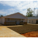 Nearly completed Habitat house