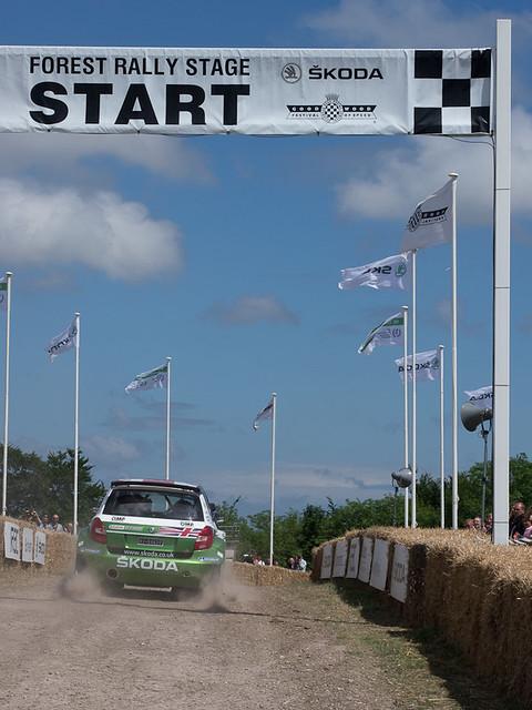 Skoda Fabia S2000 Rally car