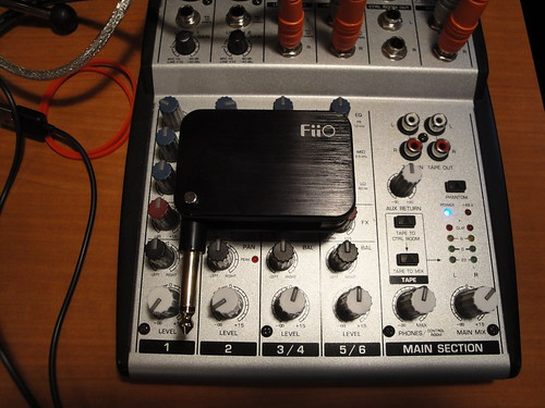 The FiiO G01 Guitar Headphone Amplifier
