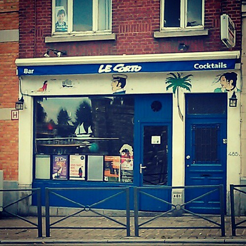 corto in the town #cortomaltese #brussels by peixes loucos