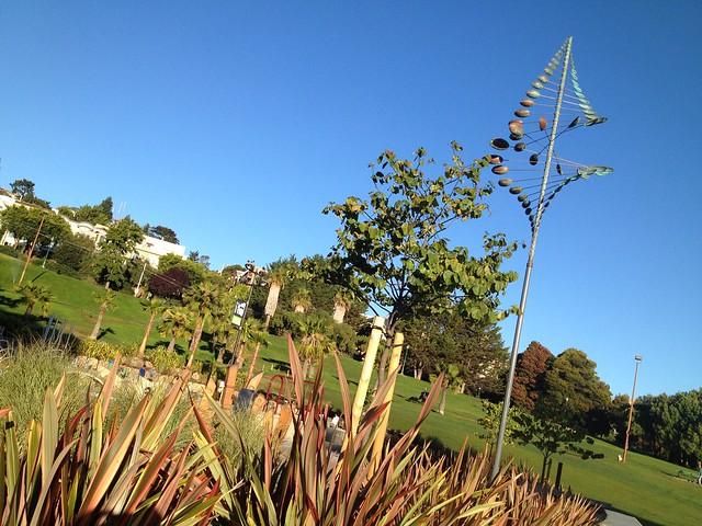 Wind sculpture, Helen Diller Playground