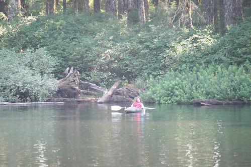 she kayaks