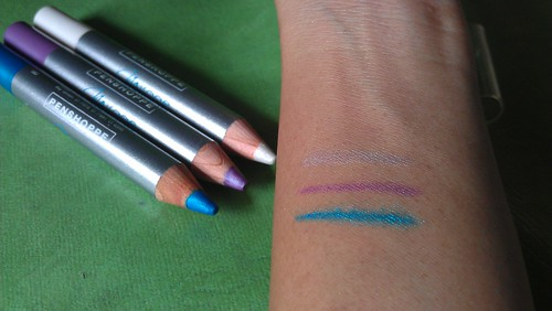 Penshoppe Aqualiner Swatches Celeste, Nymph and Royale
