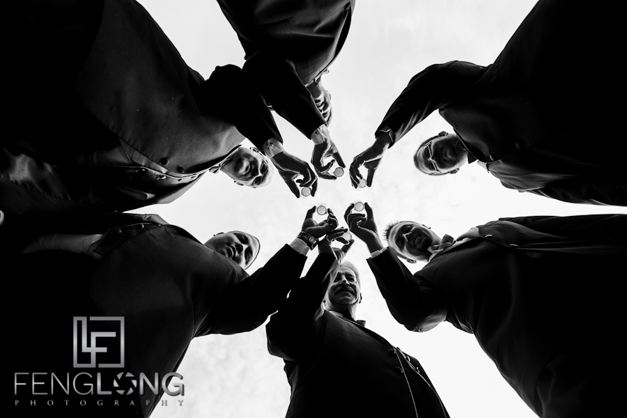 Groomsmen Creative Wedding Photo | Whitney & Ryan's Wedding | Belle Terra | Rome North Georgia Wedding Photographer