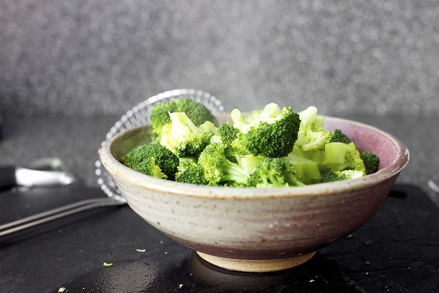 steamed broccoli, college ceramics