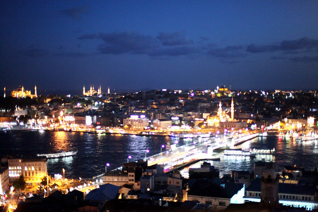 view from galata tower, istanbul