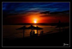 Atardecer en la costa de Malaga.Sunset in Malaga coast (Spain)