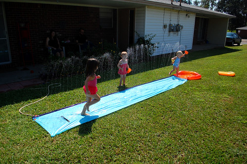 Slip & slide with Annie.