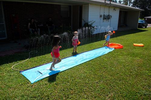 Slip & slide with Annie.
