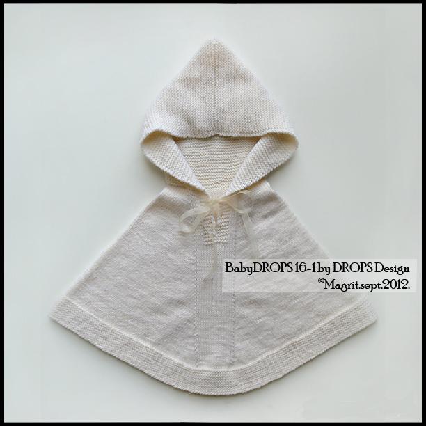 white baby poncho