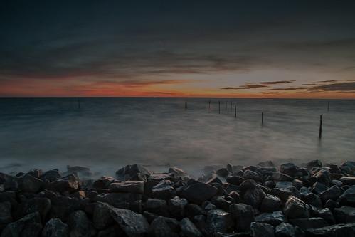 Stone shore