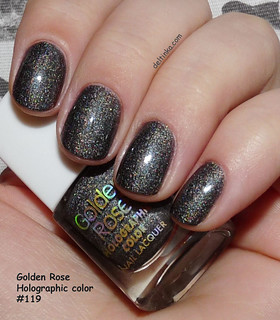 Golden Rose Holographic color №119