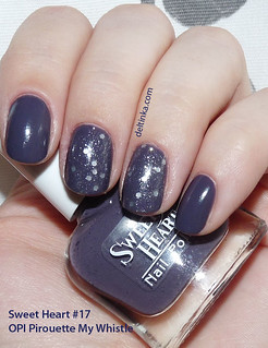 Sweet Heart #17 + OPI Pirouette My Whistle