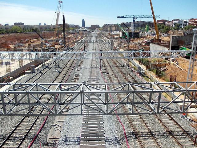 Instalación de las nuevas vías del AVE - 01-09-12