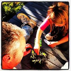 Potting & planting #schoolholidays